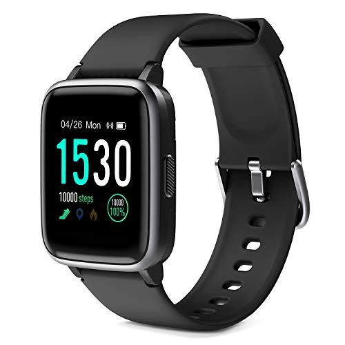 Glymnis Reloj Inteligente Smartwatch Impermeable IP68 Pulsera Actividad con Pulsómetro Monitor de Sueño Pantalla Táctil Completa Reloj Deportivo