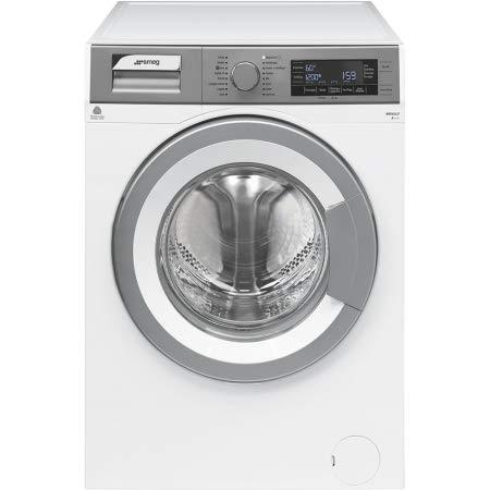 Smeg WHT812LIT Libera installazione Caricamento frontale 8kg 1200Giri/min A+++ Argento, Bianco lavatrice