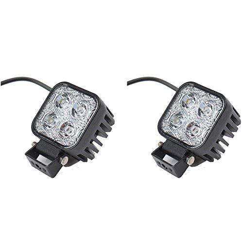 Greenmigo 2x 12W Led Scheinwerfer Offroad Lampe Flood Arbeitsscheinwerfer LED Arbeitslicht 12V 24V Zusatzscheinwerfer Rückfahrscheinwerfer für Traktor Bagger SUV - 60 Grad Wasserdicht IP67 1100LM