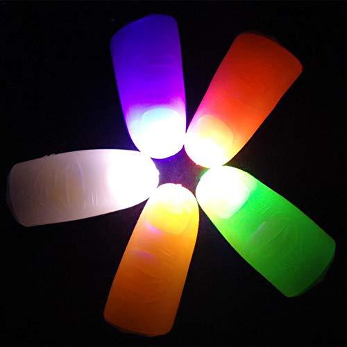huaqiang194 4pcs LED Finger Thumb Light Tricks Finger Light Lamp Fake Finger Magic Prop Party Bar Show Lamp Prank Toy Tool for Halloween Red