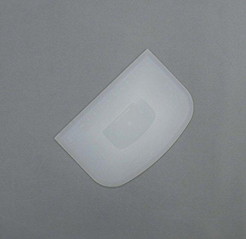 タイガークラウンスパテラ・スケッパー白145×3×97mm目盛付ドレッジポリエチレン生地流し込むならす裏ごし555