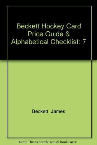 Beckett Hockey Card Price Guide & Alphabetical Checklist