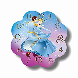 Art time production Cinderella 11.8'' Handmade Wall Clock - Get Unique décor for Home or Office – Best Gift Ideas for Kids, Friends, Parents and Your Soul Mates