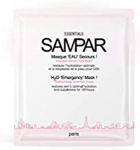 SAMPAR - H2O 'Emergency' Mask! - Moisturizing and Hydrating Hydrogel Serum Mask - ALL SKIN TYPES - Cruelty-Free Beauty Made In Paris (3 Sheets) (Pack of 1)