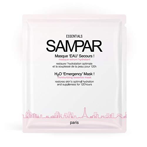 Sampar - 3 Wasser Notfall Masken! - Feuchtigkeit und Intensiv Serum - Alle Hauttypen, gespannte Haut - 20 Min Pause für 120 Stunden Feuchtigkeitsversorgung - Packung mit 3 Stück Masken à 25g