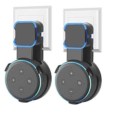 Dot Wall Mount Holder Hanger for 3rd Gen for Dot 3rd Generation Smart Home Speaker [2 Pack-Black] by Cinolink
