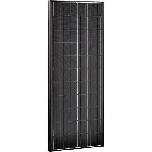 ECTIVE Monokristallines Solarmodul 12V 110W Black Edition Solar Zelle Panel Modul für den Outdoor Bereich in 4 Varianten 80-180 Watt