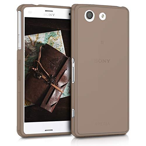 kwmobile Cover Compatibile con Sony Xperia Z3 Compact - Custodia in Silicone TPU - Back Case Protezione Posteriore - Nero