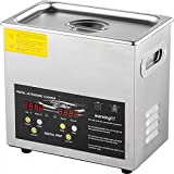 VEVOR 3L Upgraded Ultrasonic Cleaner (200W Heater,120W Ultrasonic) Professional Digital Lab Ultrasonic Parts Cleaner with Heater Timer for Jewelry Glasses Parts Cleaning