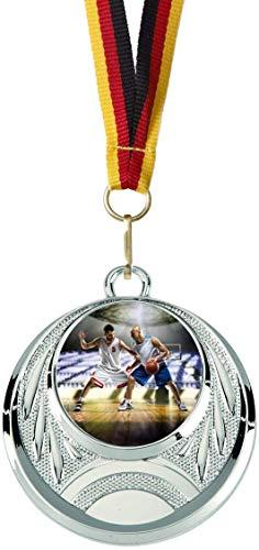 Verlag Reiner Kullack 10er-Set Medaillen »Basketball«, mit 25 mm Sportfoto-Emblem (Folie, bunt)