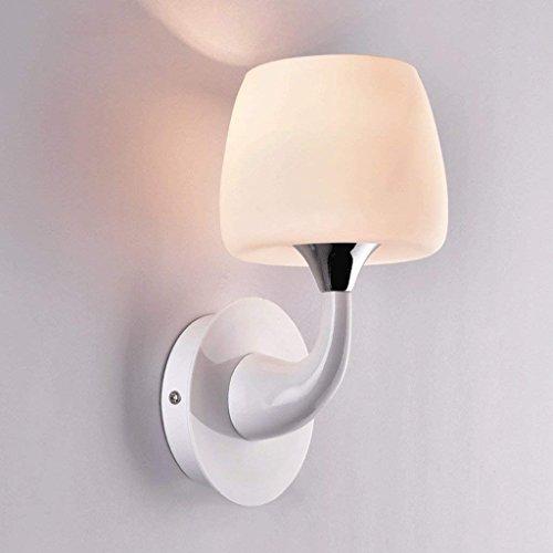 DSJ BAI metalen paddenstoelen eenhoofd eenvoudige wandlamp BAI glazen scherm geleid slaapkamer bedlampje badkamer gang licht, enkele kop