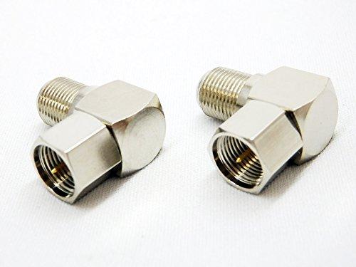 エスエスエーサービス F型L字接栓(ネジ式) [ 2個入 ] F-LN2P