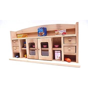 Holz Puppen Schrank | Öko Puppenmöbel | Holz Spielzeug Peitz
