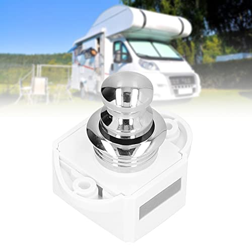 Pestillo para autocaravana, instalación simple, portátil, sin llave, ABS, botón pulsador, pestillo resistente al desgaste para puerta de armario, para casa, para cajón