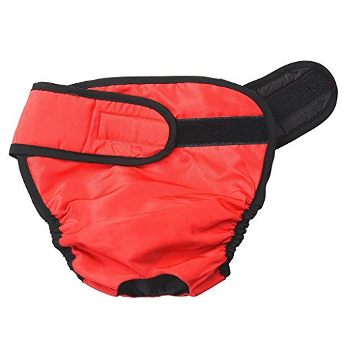 HomeDecTime Hundewindeln Hundeschutzhose Hygieneunterhose Inkontinenzhose Läufigkeitshose - Rot, S