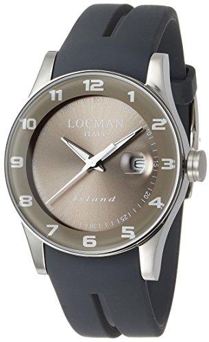 Locman Island / orologio uomo / quadrante grigio / cassa acciaio e titanio...