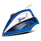 Yxxc Plancha generadora de Vapor portátil pequeña con Suela de cerámica Antiadherente Vaporizador de Ropa 2400 W Vaporizador de Ropa para el hogar y Viajes Elimina Arrugas Rebeldes, Azul-2400W
