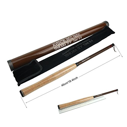Aventik Z Tenkara Rods Pro IM12 Nano 6:4 Action 5 Most Used Sizes All Water Conditions Quality Carbon Tube Packing, Extra Spare Sections Included, Tenkara Fly Rods&Combo (11'10'' 10sec)