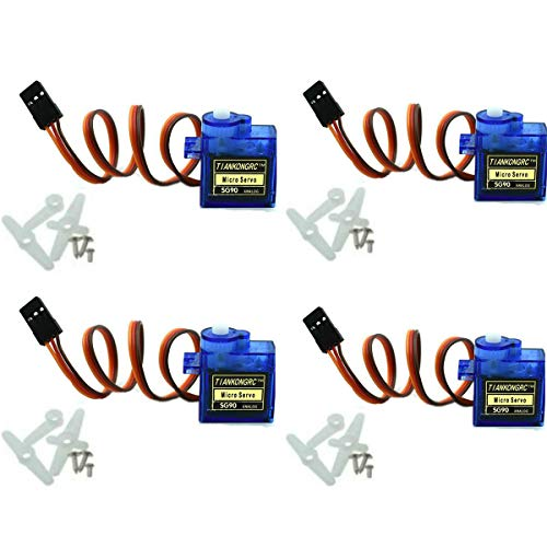 4Pcs SG90 9g Micro Servos for RC Robot Helicopter Airplane Controls Car Boat