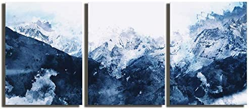 Abstract Canvas Wall Art Modern Abstract Painting Prints Blue Canvas Pictures Artwork Wall Art product image