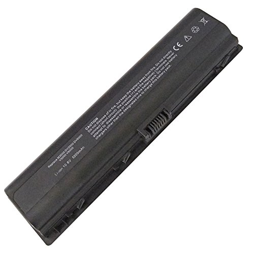 Exxact Parts Solutions Replacement Laptop Battery for HP Pavilion DV6000 DV2000 DV6500 HSTNN-LB42 446506-001 HSTNN-DB42 HSTNN-LB31 436281-321 Notebook Battery [Li-ion 10.8V 5200mah 6 Cell]