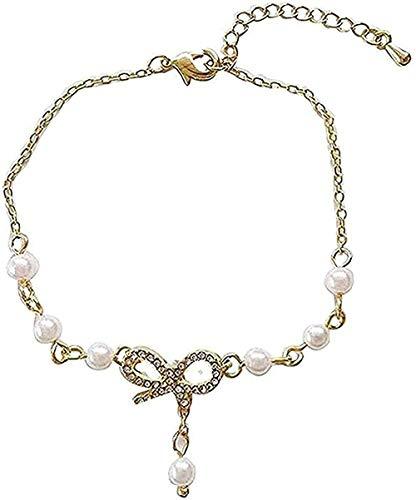 WSBDZYR Co.,ltd Collar de Moda Pulsera de Lazo Virgen Pulsera de Cuentas Dulces Ajustables Accesorios de Diamantes para Estudiantes Cuerdas Regalo Niñas Niños Collar