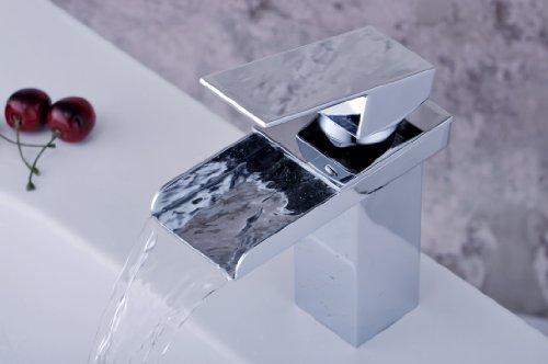 Valeeno Bathroom Taps - Chrome Waterfall Basin Mixer Tap ...