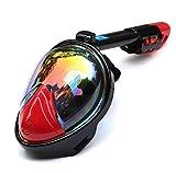 NKJGFV Máscara de Buceo de Rostro Completo Máscara de Snorkel antiniebla Máscara subacuática Gafas de Adultos para niños Equipo de Buceo de Entrenamiento Plated Red L/XL