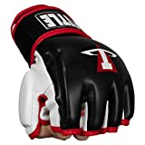 Title Conflict MMA Training Gloves, Black/White/Red, Large