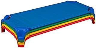 Sprogs SPG-16138-AS Deluxe Unassembled Stackable Daycare Cot Rest Mat w/Easy Lift Corners, Standard 52