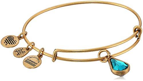 Alex and Ani December Birth Month Charm with Swarovski Crystal Rafaelian Gold Bangle Bracelet