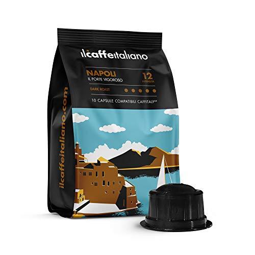FRHOME - Caffitaly 6,8 x 100 Càpsulas compatibles - Il Caffè Italiano - Mezcla Napoli Intensidad 12