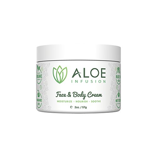 Product Image of the Aloe Infusion Body and Face Moisturizer - Natural Moisturizing Cream with...