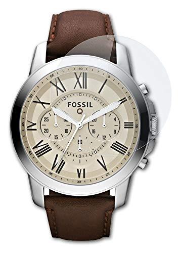 atFoliX Glasfolie kompatibel mit Fossil Q Grant Panzerfolie, 9H Hybrid-Glass FX Schutzpanzer Folie