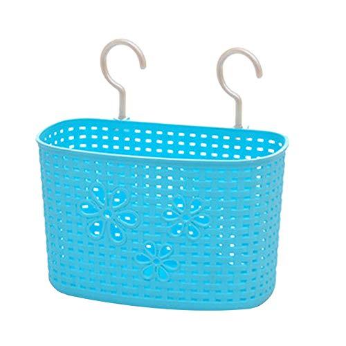Weimay - Cesta colgante de plástico, para cocina, baño, almacenamiento, champú, lavado, lavabo, lavabo, cesta colgante, jabón, cesta de desagüe