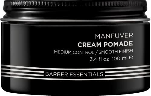 Redken Brews Cream Pomade For Men, Medium Hold, Natural Finish 3.4 Ounce