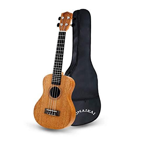 POMAIKAI Soprano Ukelele para Principiantes, Ukelele Hawaiano para Niños, Guitarra de 23 Pulgadas con Bolsa para Niños Estudiantes y Principiantes (color de madera 23 pulgadas)