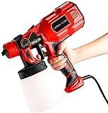 4YANG Rociador de mano eléctrico 550 W 800 ml, recipiente desmontable, rociador de valla con 3 modos de pintura, cable mínimo de 6,6 pies, rociador de pintura HVLP, laca para muebles, barniz