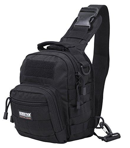 Seibertron Tactical Outlaw Sling Pack Molle Multifunctional Day Bag Black