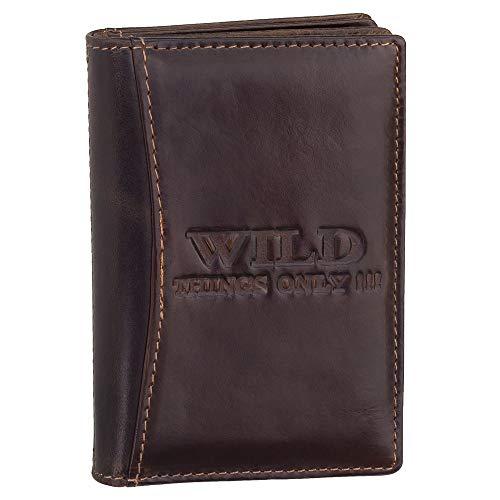 Ledershop24 Geschenkset - RFID & NFC Ausweisetui Leder Ausweismappe Ausweishülle Kreditkartenetui Kartenetui Führerschein Farbe Braun 5521