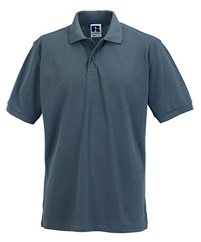Russels Workwear - Polo - - Polo - Col polo - Manches courtes Homme - Gris - Light Oxford - Large