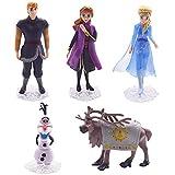 CYSJ 5 Pcs Princesa Congelada Cake Topper Frozen Decoración de Tartas Figuras Decoración para Tarta de cumpleaños de Figuras de Dibujos Animados del Fiesta Suministros