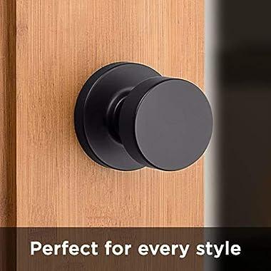 Kwikset 97200-892 Pismo Door Knob, Round, Matte Black