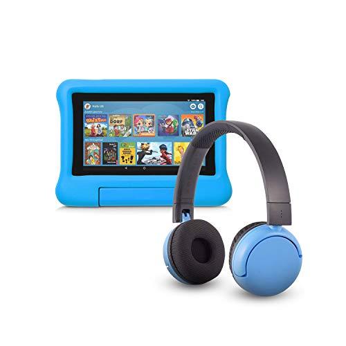 Fire 7 Kids Edition-Tablet (16 GB, blaue kindgerechte Hülle) mit...