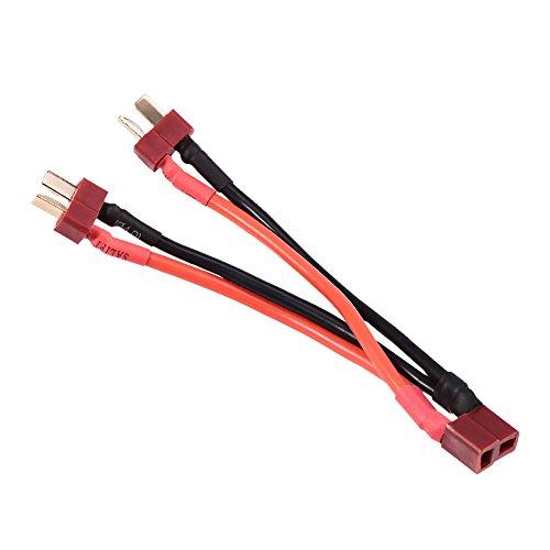 Dilwe T Style Stecker Kabel, 1 Buchse auf 2 Stecker 14AWG Kabelstecker zum Dekantieren für RC ESC Lipo Akku