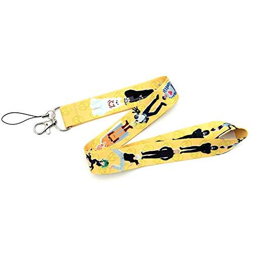 Saicowordist One Punch man anime-cartoon camera touw opknoping draagband lang deel mobiele telefoon touw hete cadeau voor fans van animes. geel