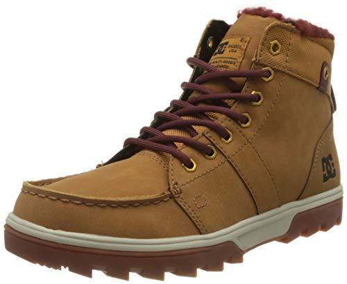 DC Shoes Herren Woodland - Sherpa Winter Boots for Men Schneestiefel, Brown/Brown/Brown, 42.5 EU