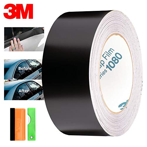 "EZAUTOWRAP EZ-Chrome-Delete-3M-Satin-Black-4""x50Ft"