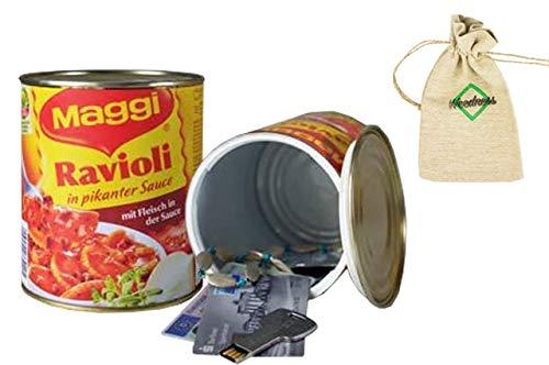 Weedness Ravioli Dosen-Safe Geldversteck - Dosentresor Versteckdose Geheimversteck Mini Tresor Strandsafe