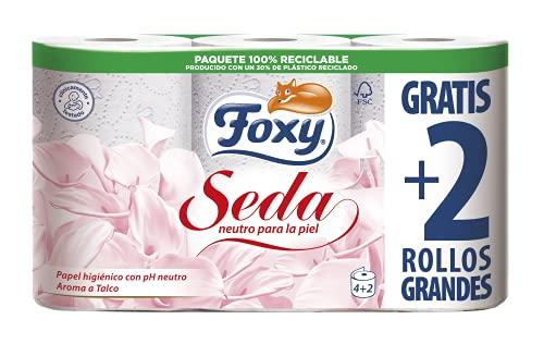Foxy Seda - Papel higiénico con pH Neutro, 6rollos (Papel WC)